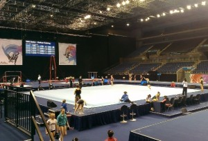 Gymnastics venue at the Echo Arena. Picture by Sinead Cunningham