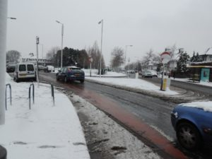 Hazardous road conditions in Childwall. Picture by Sophie Grundy