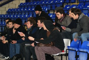 JMU Journalism Sports class live match exercise at Chester FC
