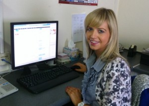 Sheena McStravick at work at the Tyrone Times