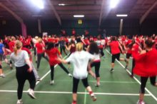 Zumba fanatics across Liverpool gathered together to raise money for Comic Relief.