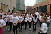 Liverpool ADHD Foundation staged a flashmob with 100 dancers to raise awareness of the charity.