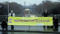 A protest was held by UKIP this morning against the price rise in the Mersey tunnel tolls.