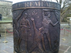 Hillsborough memorial in Old Haymarket © Twitter Liverpool City Council