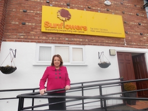 Joan Elmer project manager at Liverpool Sunflowers
