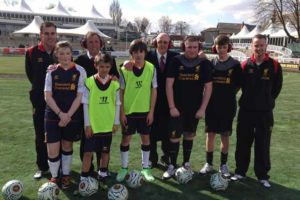LFC former players Phil Neal and Alan Kennedy taking part in LFC Foundation Football for All scheme