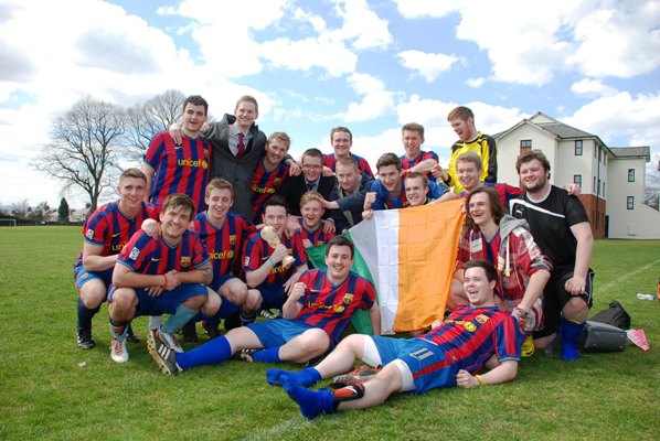 Level 3 celebrate winning the 2013 JMU Journalism World Cup Final