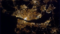 The beauty of Liverpool and the Wirral at night has been shown from space by astronaut, Commander Chris Hadfield.