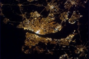 Liverpool and the Wirral from space © Chris Hadfield/Twitter