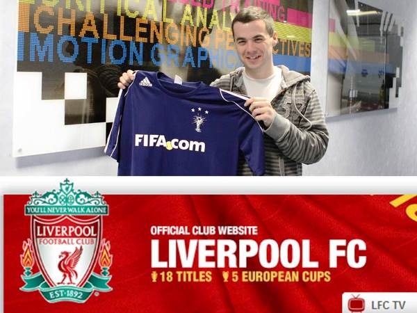 Chris started his professional career with FIFA.com before moving to the official Liverpool FC website team. Logo © Liverpool FC