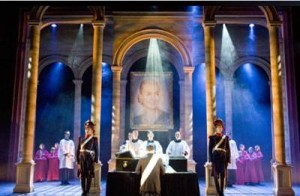 Funeral scene from the musical stage show of Evita © Bill Kenwright Ltd