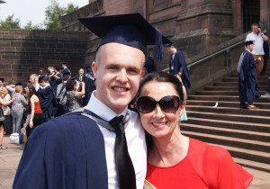 Joel Richards and his proud mum on JMU Journalism graduation day 2013