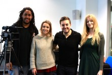 TV presenter and writer Alex Brooker returned to his roots when he addressed JMU Journalism students.