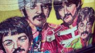 A jelly bean portrait of The Beatles is catching the attention of shoppers at the Albert Dock.