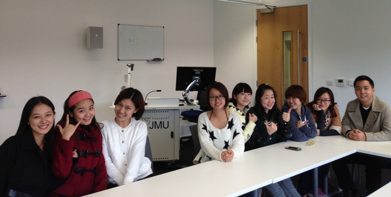 Chinese MA students studying journalism at LJMU