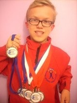 Dylan Beaumont won eight medals at the World Dwarf Games © Nick Beaumont