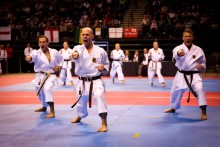 The Echo Arena played host to hundreds of competitors at the World Shotokan Karate Championships.