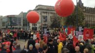 Thousands gathered in Liverpool for a 'march against fascism'.