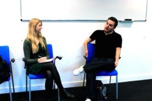 JMU Journalism's Lucy Bannister chats with Alex Brooker