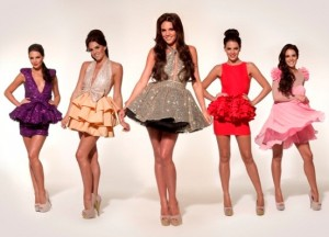 Miss Francesca Couture being modelled by Danielle Lloyd