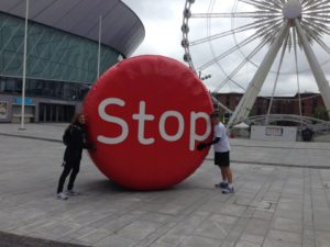 The Stoptober campaign in Liverpool © NHS Smokefree/Facebook