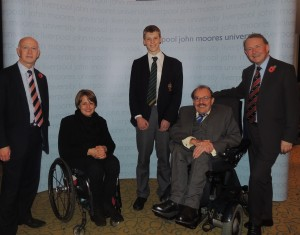 Tanni with the volunteer and founder of the Heswall Disabled Group and with the Lord Chancellor- pics by Gemma Sherlock