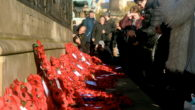 Bright sunshine fell across St George's Hall as hundreds gathered in the cold for Remembrance Sunday in Liverpool.