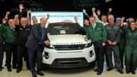 Range Rover reached the one million mark when an Evoque model rolled off their production line at Halewood.