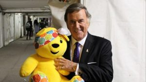 Host Terry with Pudsey Bear at Children in Need © BBC