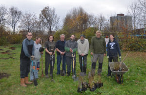 Bootle volunteers planting new trees in the area