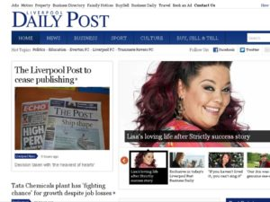 How the Liverpool Daily Post website broke the news © Trinity Mirror