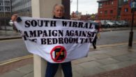 Wirral residents come together to support the bedroom tax appeal hearings.
