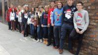 JMU Journalism students turned up to classes in festive fancy dress to raise money for Macmillan Cancer Support.