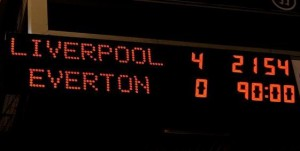 It was Liverpool's biggest Merseyside Derby win since they beat Everton 5-0 at Goodison Park in 1982. Pic © Liverpool FC/Twitter
