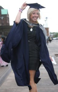 Louisa Collington on graduation day 2010