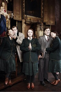 The cast of 'Once a Catholic' © Katherine Morley/Twitter