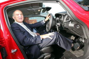 Secretary of State for Business, Vince Cable visiting Vauxhall Ellesmere Port in 2010