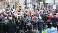Hundreds of protesters gathered outside Liverpool Town Hall as the council met for its budget meeting.