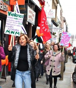 International Women's Day march in Liverpool. Pic by Harriet Midgley