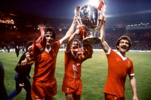 Liverpool's 1978 European Cup triumph celebrated by Alan Hansen, Kenny Dalglish and Graeme Souness © Trinity Mirror