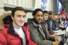 Students swapped the comfort of the newsroom for the stands of Chester FC for live match reporting.