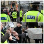 Budget cut protests outside Liverpool Town Hall. Pics by Jack Maguire