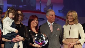 Lucie Campbell being present with her award by Princes Charles © Facebook/Lucie Campbell