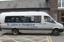 A Wirral hospice has been left with a £1,200 repair bill after a vital piece of its minibus was stolen.