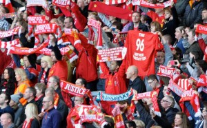 Hillsborough 25th anniversary memorial service at Anfield. Pic by Ida Husøy