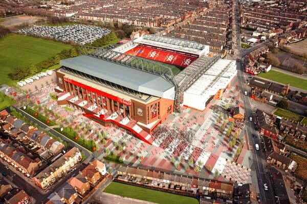 Proposed design of the redeveloped Anfield © Liverpool FC