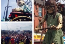 The Royal de Luxe Giants returned to Liverpool, drawing in an estimated one million people to the city.