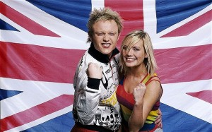 Gemma Abbey was in Jemini with fellow Scouser Chris Cromby, representing the UK at the 2003 Eurovision song contest © BBC/Eurovision
