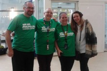 Staff at LJMU's Aldam Robarts library helped to raise funds for Macmillan Cancer Support by shaving their hair off.