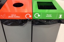 Thousands of plastic bottles, cans and paper are going to landfill due to a lack of recycling facilities in the city centre.